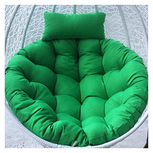 HLZY Outdoor Cushions for Patio Chairs Egg Hammock Chair Pads, Hanging Egg Chair Cushion for Outdoor Garden Patio Hanging Wicker Weave Furniture Deck Chair Cushions (Color : Green)