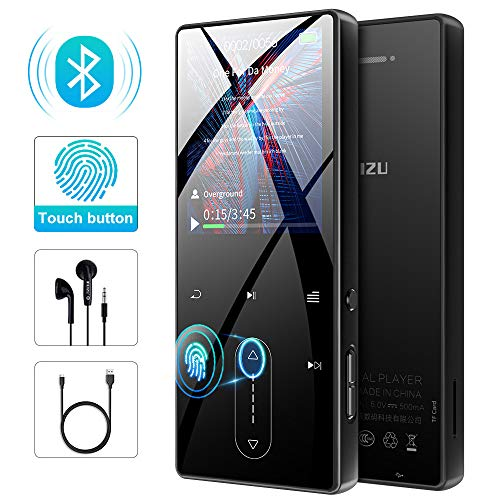 MP3 Player, RUIZU MP3 Player with Bluetooth, Portable HiFi Lossless Sound Music Player with Speaker, FM Radio, Voice Recorder, E-book, Video Player, Pedometer, Built-in 8GB Memory, Support up to 128GB
