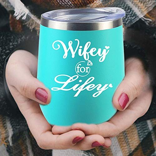 Birthday Gifts For Wife Valentine's Day Gifts Engagement Gifts Women Bridal Shower Wine Glass Tumbler