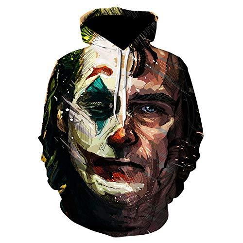 Suicide Squad 3D Cosplay Hoodie Sweatshirts Joker Tops Pullover Clown Costume Hoodies Long Sleeve Mens Hoodies Funny Hoddies-Picture_Color_Size_XXXL