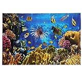 Balacoo Fondo del Acuario pecera decoración Pegatina Paisaje del océano Estampado Etiqueta de la Pared del océano para el Dormitorio Acuario casero