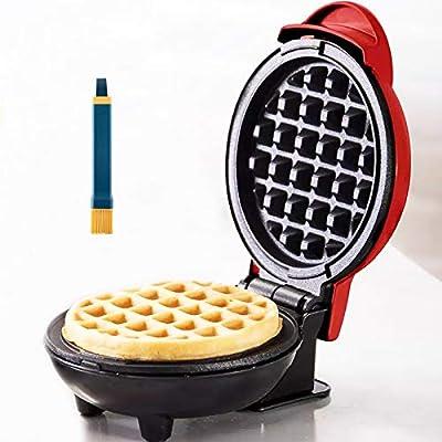 LIBAITIAN Mini Waffle Maker, Delicious Breakfast Pancake Maker Iron,With Pastry Brush,Perfect Kitchen Appliances Belgian Waffle Maker