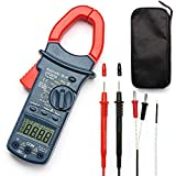 AstroAI Digital Clamp Meter, TRMS 6000 Counts Multimeter Volt Amp Ohm Meter with Manual and Auto Ranging, Continuity, Frequency; Diodes, Temperatur Tester