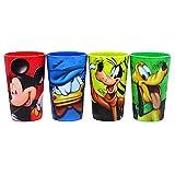 ディズニー ミッキーマウスとお友達 レンチキュラー 3D プラスチックカップ 4個セット