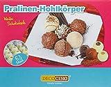 Dekoback Pralinen Hohlkugeln 63 Stück Weiß, 1er Pack (1 x 176 g)