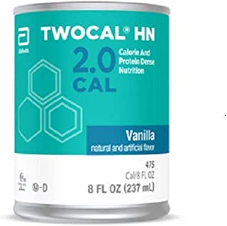 Twocal HN Calorie and Protein Dense Nutrition, Ready to Use, Vanilla, 8-Ounce Cans (Pack of 24)