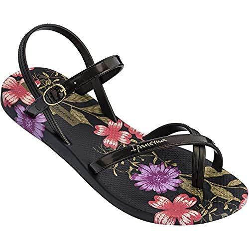 Ipanema Damen Fashion Sand VIII Fem Flache Sandale, Schwarz, 38 EU