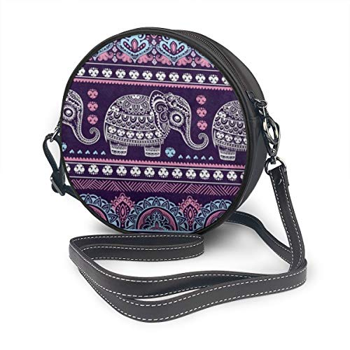 UNIQUE And FASHION:Tribal Ethnic Elephant Mandala Elephant Design Makes You Look Unique And Fashion. Its Dainty And Unique Design Is Sure To Bring Lots Of Attention. SIZE: 7Inch(L) X 7Inch(H) X 2.36Inch (D) ,Comes With A Removable Leather Shoulder St...