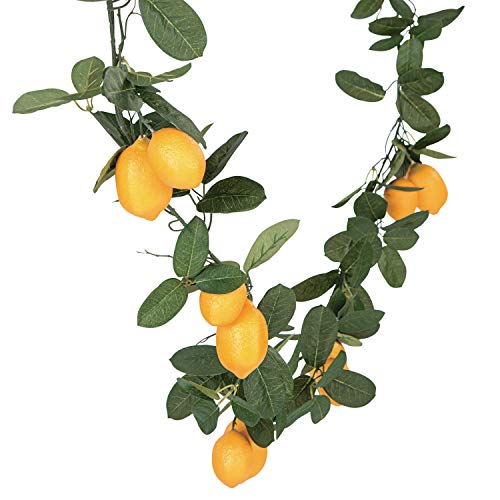 Fun Express Artificial Lemon Garland (6 feet Long) Wedding and Home Decor