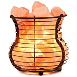 Himalayan Pink Salt Lamp Basket with Cord & Bulb