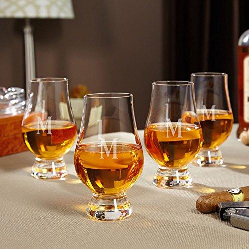 Personalized Glencairn Whiskey Glasses, Set of 4 (Custom Product)