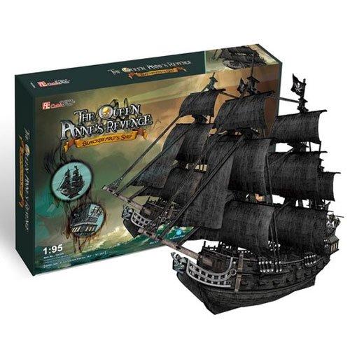 3D立体パズル 308ピース 海賊黒ひげのクイーン・アンズ・リベンジ号 ビッグサイズ T4018h