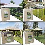 parpyon® Telo Gazebo 3X3 Copertura in Tessuto Poliestere 100% - Telo per Gazebo da Giardino Esterno mt 3x3-3x4-3x2 - Vari Modelli – Colore Beige arredo Giardino (3X3 Style)
