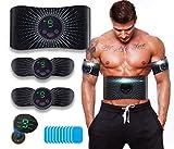 ROOTOK Elettrostimolatore per Addominali, Elettrostimolatore Muscolare, Addominale Tonificante Cintura, EMS Stimolatore Muscolare Addome/Braccio/Gambe/Waist/Glutei