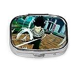 D Fullmetal Alchemist Silver Square Pill Box Medicina Tablet Holder Cartera Organizador Estuche para bolsillo o monedero