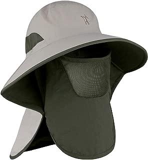 Powcan Gorra de Pesca al Aire Libre 360 ° Protección Solar Sombrero Protección UV Desmontable ala Ancha con Solapa para el Cuello Unisex para IR de Excursión Escalada