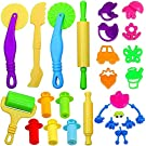 JPSOR 26pcs Clay Dough Tools Kit Dough Playset Includes Extruder Tools, Animal and Plant Shape Cutters and Molds
