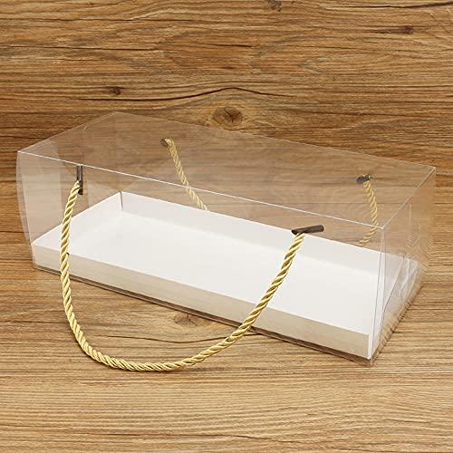 Cajas para Cupcakes, Panadería Cajas de Regalo, Caja regalo Transparente Tarta, Caja de Pastel con Cartón, para Pasteles Galletas Muffins Pastel Cumpleaños Fiesta Favores Vacaciones