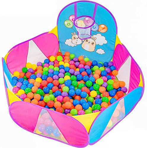 NUBUNI Piscina Palline Canestro Basket : Bambini Recinto per Bambini : Piscina di Palline per Bambini : Parco Giochi Bambini : Giochi Giardino : E Palline Non Incluse