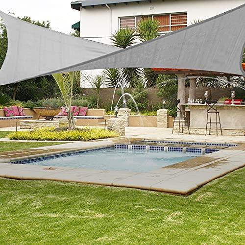 FOCHEA Toldo Vela de Sombra Rectangular 3x4 M, Toldo UV HDPE Prevención Rayos UV Resistente y Transpirable para Terraza, Jardín, Pérgola, Patio, Balcón