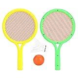 RBSD Ensemble de Raquettes de Tennis pour bébé respectueux de l'environnement de Taille Portable intéressante, Ensemble de Raquettes de Badminton durables, pour Enfants Parents Maternelle Enfants