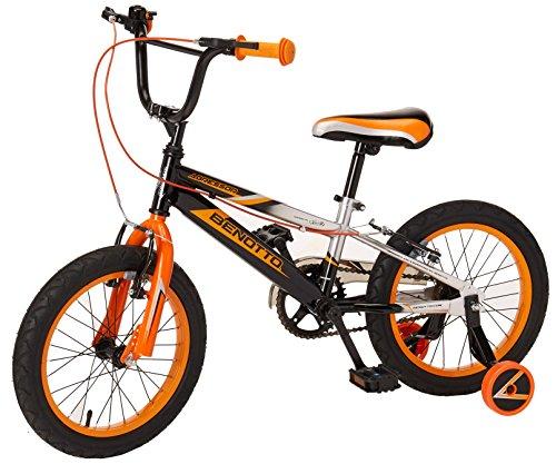 Benotto Agressor Cross Bicicleta de Acero, Frenos V de 1 Velocidad, Multicolor, Rin de 16'