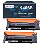 OFFICEWORLD CLT-K406S Toner Compatible para Samsung CLT-K406S para Samsung Xpress C460W C410W C460FW C460 CLX-3305 3300 3305FW 3305FN 3305W 3305N CLP-360 365 365W 360N 368 360ND (2 Negro)