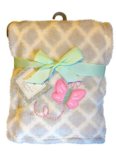 Crib Mates So Soft Pink Butterfly Security Blankets for babies 30x36