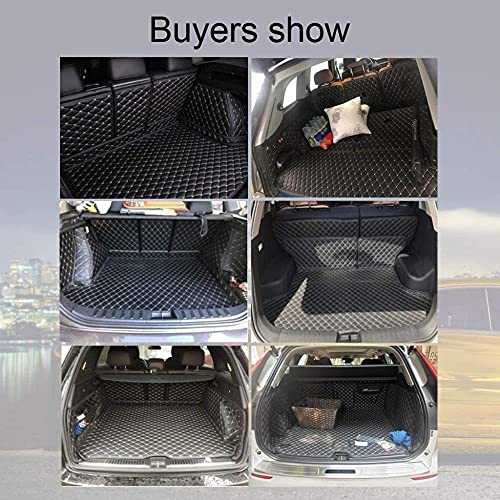 Car Boot Liner Car Boot Protector for Peugeot 5008 2018 -2020 Car Boot Cover Accessories -Coffee