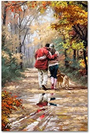 Couple Walking By The Macneil Studio 30x47 Inch Canvas Wall Art Posters Prints Amazon Com