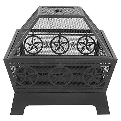 EBTOOLS Estufa de leña de diseño hueco resistente a altas temperaturas, estufa de madera para tienda de campaña, cocina al aire libre para actividades al aire libre