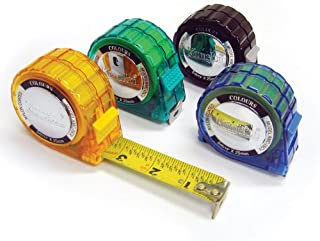 Komelon 3516 Colours Tape Measure with Acrylic Coated Steel Blade 16-Feet by 1-Inch, Assorted Colors