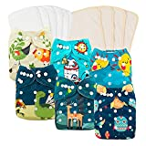 Product Image of the Babygoal Baby Cloth Diapers Washable Pocket Nappy, 6pcs Cloth Diapers+6...