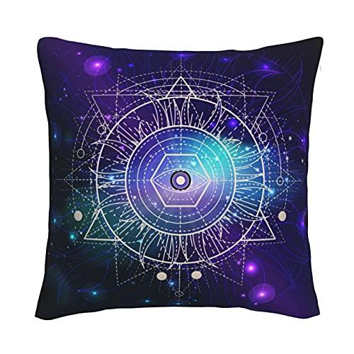 Mxswru Funda de cojín de terciopelo galaxia, decorativa, cuadrada, para cama, sofá, con cremallera invisible, 50,8 x 50,8 cm, color morado
