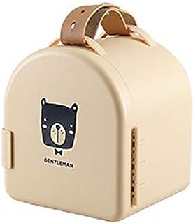 Boîtes de rangement en plastique avec poignées - 16 x 14 x 18,3 cm (PP) - Sans BPA - Panier de rangement pour nourriture, ...