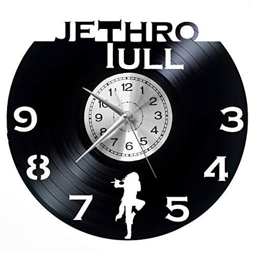 Reloj de pared Jethro Tull de vinilo, reloj retro, grande, estilo de habitación, decoración del hogar, gran regalo, decoración de pared, vinilo para el hogar