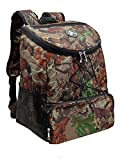 GigaTent Fully Insulated Backpack Cooler - 600D Adjustable Padded Shoulder Straps Bungee Cord Leakproof 2 Mesh Side Pockets for Picnic Hiking Camping (Camo)