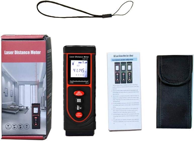 Portable Mini Laser Distance Measure Tool Digital Laser Distance Meter with Multi-Measurement Modes Pythagorean Distance Area/&Volume,40m//131ft Laser Distance Measure Meter