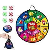 Juego de dardos para colgar en interiores o exteriores, revestimiento para dardos de agarre firme para todas las edades