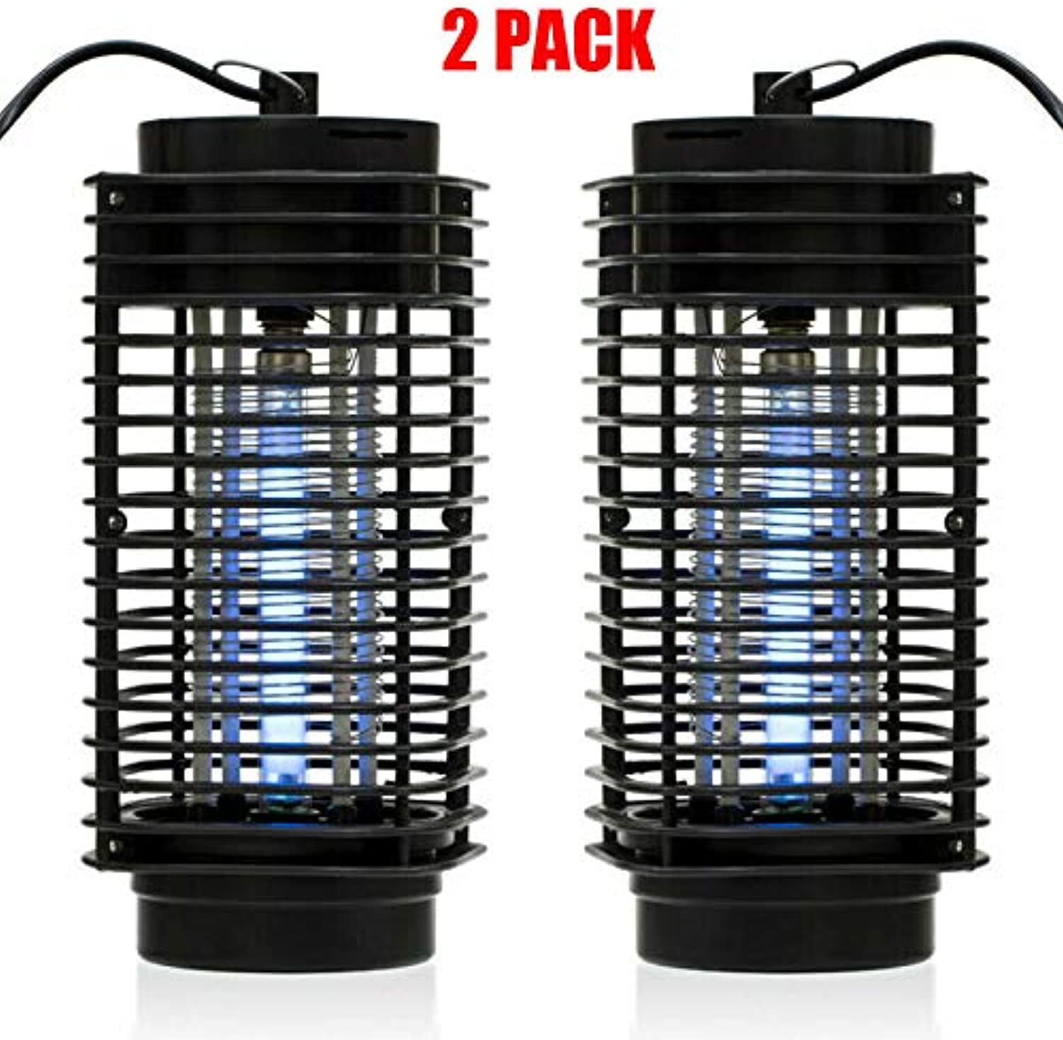 KUKUALE 2pack Electric Mosquito Fly Bug Insect Zapper Killer Trap Lamp 110V Stinger Pest