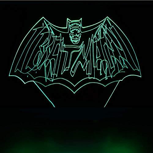 Led 3D Visuel Usb Cadeaux Enfants Toucher Batman Modélisation Lampe De Table Bébé Ambiance Éclairage Chambre Décor Luminaires Veilleuse