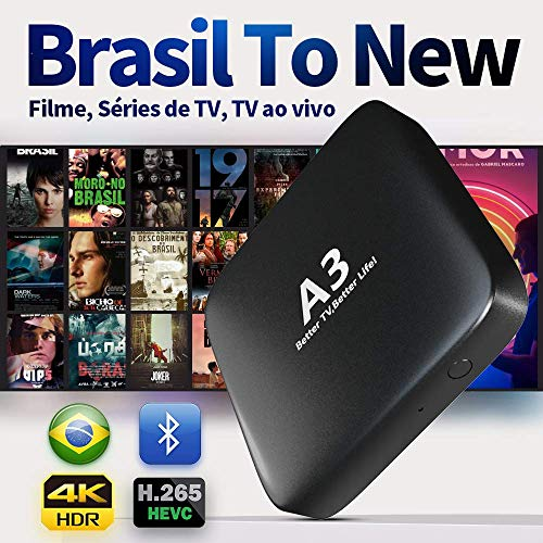 IPTV Brazil 2020 Newest A3 Box 3-5 Days Arrival Based on A2 Brazilian Better Than HTV 5 6 IPTV8 5 6 Plus Newest Upgraded Brazil Box with 250 Live Brazilian Channels and Massive Movies Dramas Films Media Players Streaming