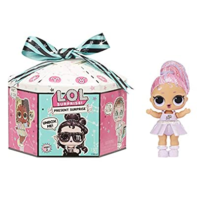 LOL Surprise Present Surprise Series 2, Glitter Star Sign Doll with 8 Surprises - Colorful Fun Collectible Doll Playset with Doll Accessories Including Outfit - Birthday Gifts for Girls Ages 4-14 from MGA Entertainment