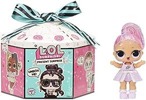L.O.L. Surprise!- LOL Brillante thème Signe Astrologique avec 8 Cadeaux, Present Surprise Série 2, Poupées de Collection...