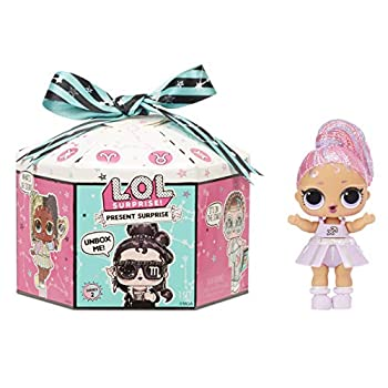 LOL Surprise Present Surprise Series 2 Glitter Star Sign Doll with 8 Surprises - Colorful Fun Collectible Doll Playset with Doll Accessories Including Outfit - Birthday Gifts for Girls Ages 4-14