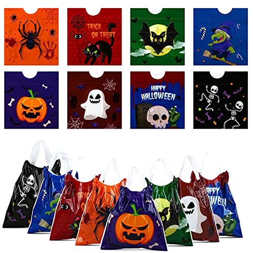 Gwhole Confezione da 40 Sacchetti di Halloween Borse di Dolcetto o Scherzetto Sacchetto per la Decorazione di Stoccaggio di Halloween Regalo Candy Bag Borse Goodie con Coulisse Cordoncino
