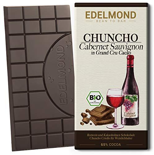 Barrique Schokolade Bio: Rotwein & Kakaobohnen zu Edelmond Schokolade. Criollo Kakao mit Cabernet für Weinliebhaber