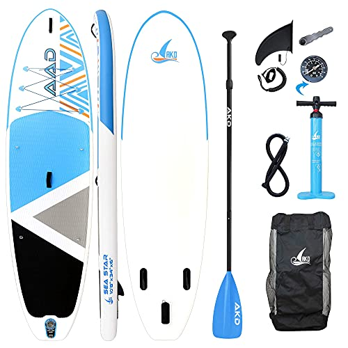 gonfiabile 8 posti AKD Seastar Paddle Board 10'8  325x86x15cm 2 Posti Tavola Gonfiabile Mare 165KG / 346L