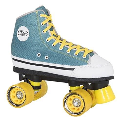 HUDORA Rollschuhe Roller-Skates Green Denim, Disco-Roller, Gr. 36, 13030