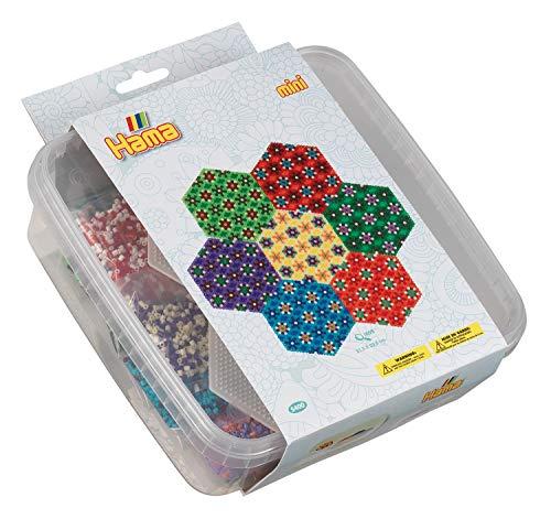 Hama 5400 Bügelperlen Mini, ca. 10.500 in Box, inklusive 2 Stiftplatten Sechseck und Zubehör, Mosaic, Mehrfarbig